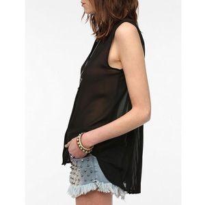 UO waterfall blouse