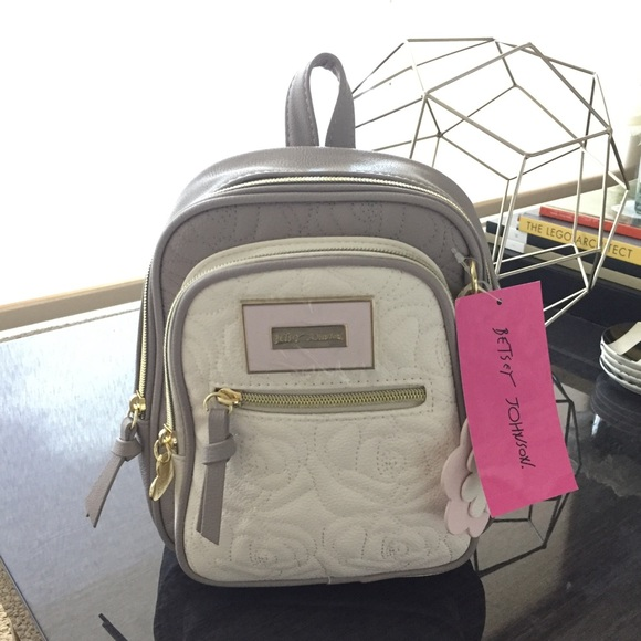 7f909ffd17 ✨Final✨Betsey Johnson Mini Backpack - Grey White
