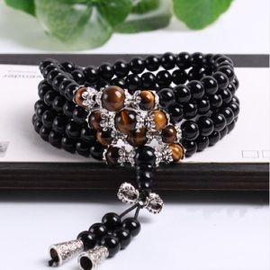 Meditation Mala 108 Beads Bracelet Necklace
