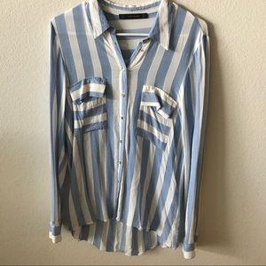 Zara Striped Shirt Size M