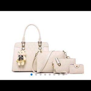 Handbags - Pu leather bear. Pendant tote