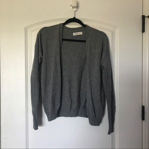 abercrombie & fitch gray knit cardigan