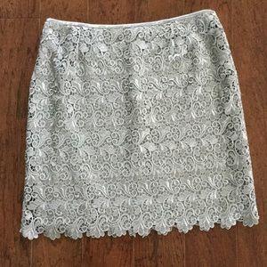 Dresses & Skirts - Gray Beautiful satin lace lined shirt