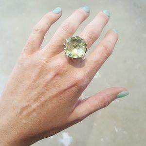 Jewelry - Genuine Modified Cushion Cut Citrine Ring