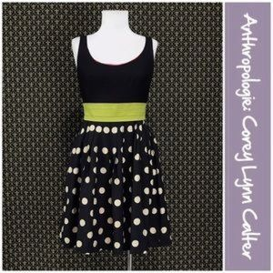 Coreylynncalter slice of lime polkadot skirt dress