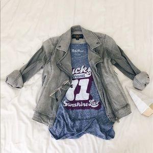 Lucky Brand Jackets & Blazers - Lucky Brand Jeans - NWT - Biker Denim Jacket