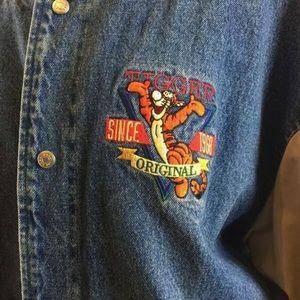 Disney Jackets Coats Winnie The Pooh Tigger Varsity Jacket Xl