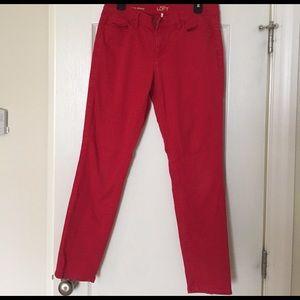 Loft size 30/10 red pants.
