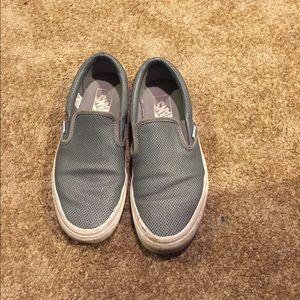 Grey Vans slip on sneakers