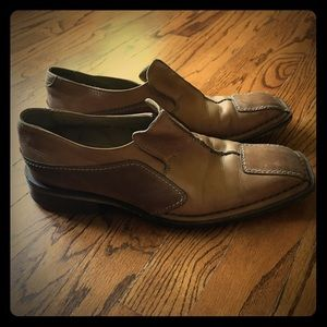 Mark Nason Leather Square Toe Loafer Sz 41