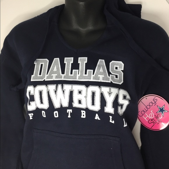 cd903617 Nike Tops | Dallas Cowboys Glitter For Her Soft Hoodie New | Poshmark