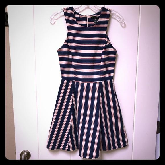 aad53d69ae Bloomingdale s Dresses   Skirts - Aqua by Bloomingdales Striped Skater ...