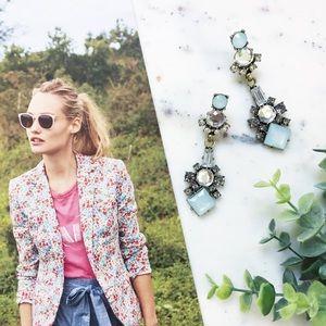 "Erica Rose Jewelry - ""Ella"" Earrings || Blue & Clear Crystal Statement"