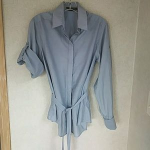 🎉On Sale! BCBG MAX AZRIA Blue. Silk cotton blend!