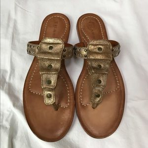 Trask Shoes - NWT Trask Gold Leather Sandals