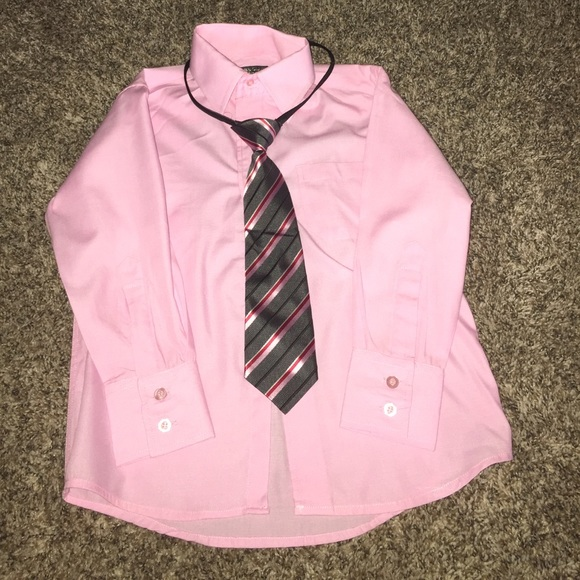 Sahara Club Little Boys Pink Shirt With Tie From