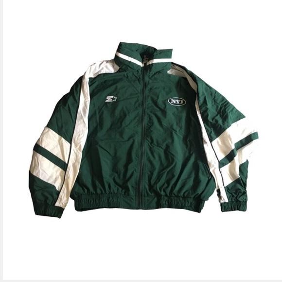 new styles 63c26 375ea Vintage Starter NFL Jets Coach Jacket Zip up