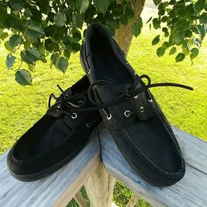Aloha Island Shoes - Aloha Island Black Boat Shoes (11M)