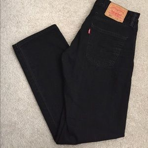 Levi's Other - NWOT Levi's 501 Straight Jeans Black Button Fly