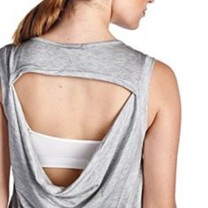 LaClef Tops - La Clef super soft knit cowl back Yoga tank