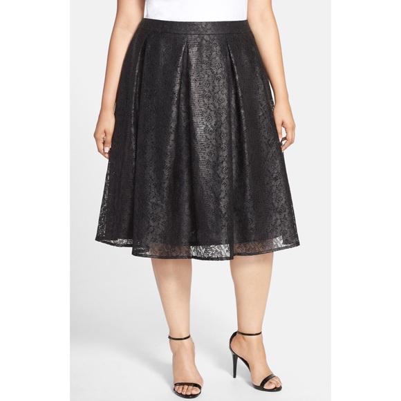 623f85baa0 Sejour Skirts | Lace Aline Midi Skirt | Poshmark
