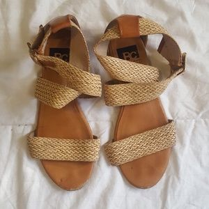 BC Footwear Shoes - BC footwear straw strappy sandals