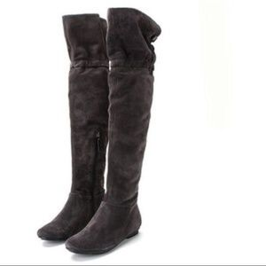 Calvin Klein black suede over the knee Mayson boot