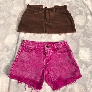 Other - Hollister skirt & Delia's shorts