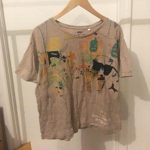 Uniqlo Tops - Uniqlo Sprz NY Basquiat Brown T Shirt Large