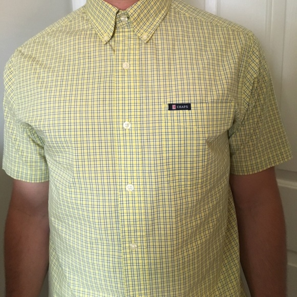 69 off chaps other easy care chaps short sleeve button for Chaps button down shirts