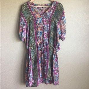 Tolani Tops - Tolani Silk Drawstring tunic/dress