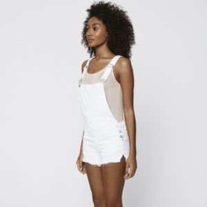 Rebecca Minkoff Shlee Dungarees in White