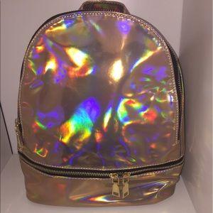 Pink Haley Handbags - Fashion Mirror Metallic Backpack