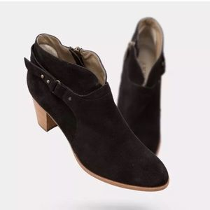 Anyi Lu Shoes - Black Suede Ankle Booties - New with box 37