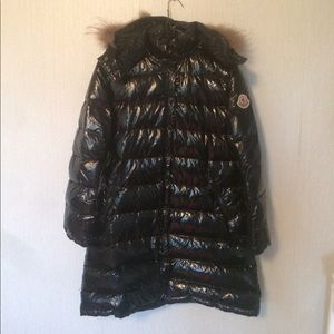 Vintage Moncler Shiny Quilted Down Coat