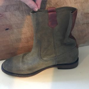 H By Hudson Shoes - Hudson green suede ankle boots