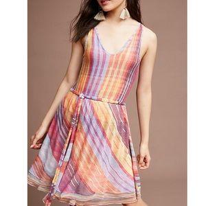 Anthropologie Rainbow Knit Dress
