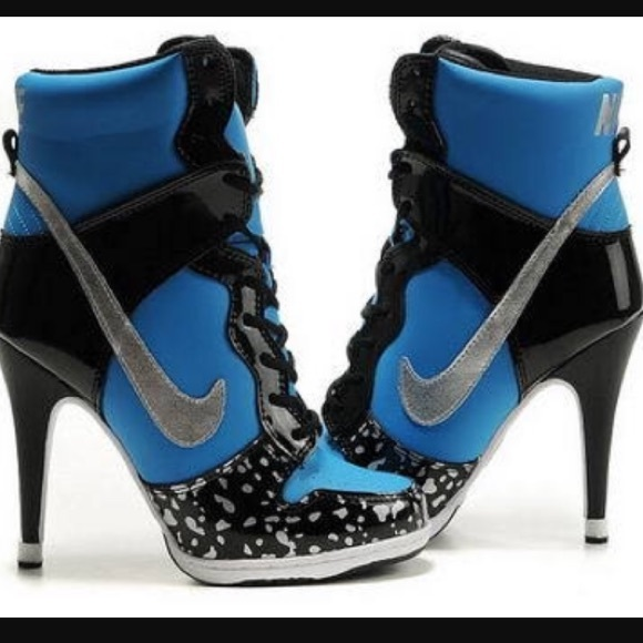 finest selection 93b81 9fbc4 Nike Dunk High Heels Supra High Blue Black Women's