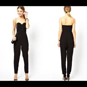 H&M Pants - H&M chic black jumpsuit with sweetheart bodice