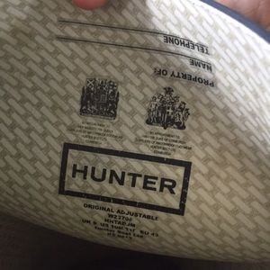 Hunter Shoes - Men's size 10 Hunter Rainboots