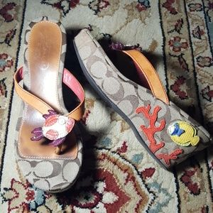 Coach Shoes - 5.5 coach tansy wedge sandels