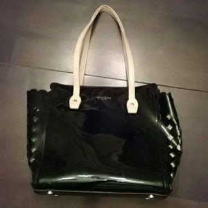 Spartina 449 Handbags - Spartina 449 Black Shiny Bag w removable interior