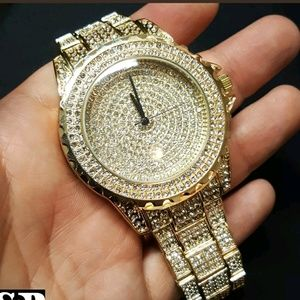 Other - Iced out Gold Tone Techno Pave Bling Luxury watch