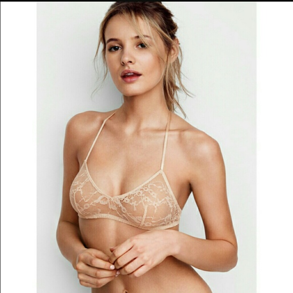 36d64d5d33510 Victoria s Secret lace scoopneck bralette