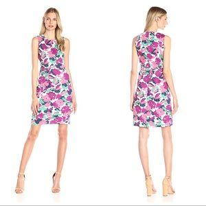 Anne Klein Dresses & Skirts - Anne Klein Cotton Pique A-Line Dress Orchid Combo