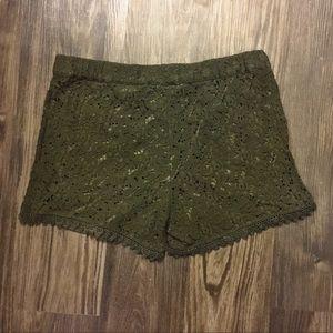 H&M Pants - Green Lace Shorts