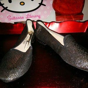 Sam & Libby Shoes - Sam & Libbey Black and Gold Slipper