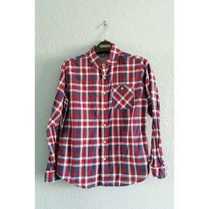 Uniqlo (Boys) | Plaid Long Sleeve Shirt
