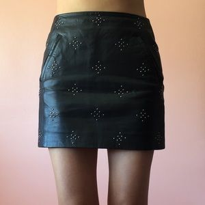 Anine Bing Dresses & Skirts - Anine Bing Studded Leather Skirt