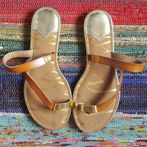 Sam & Libby Shoes - SAM & LIBBY   Brown and Gold Sandals